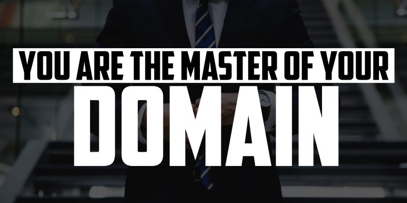 You are the Master of Your Domain | FRIDAY FIELD NOTES